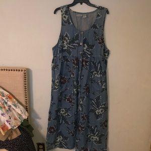 New look vintage denim like dress x large